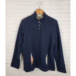 Tommy Bahama Navy Floral Pullover Sweatshirt